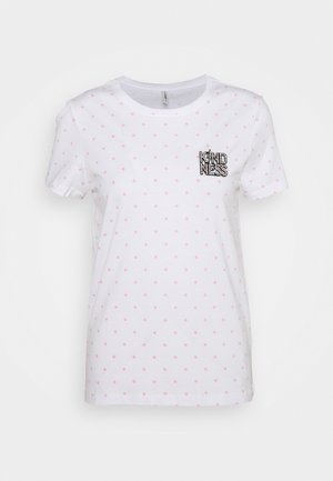 ONLKITA LIFE BADGES BOX  - T-shirts med print - bright white