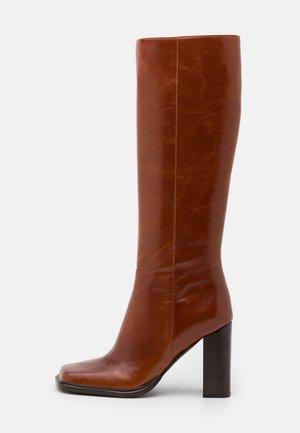 ZELDOA - High heeled boots - tan
