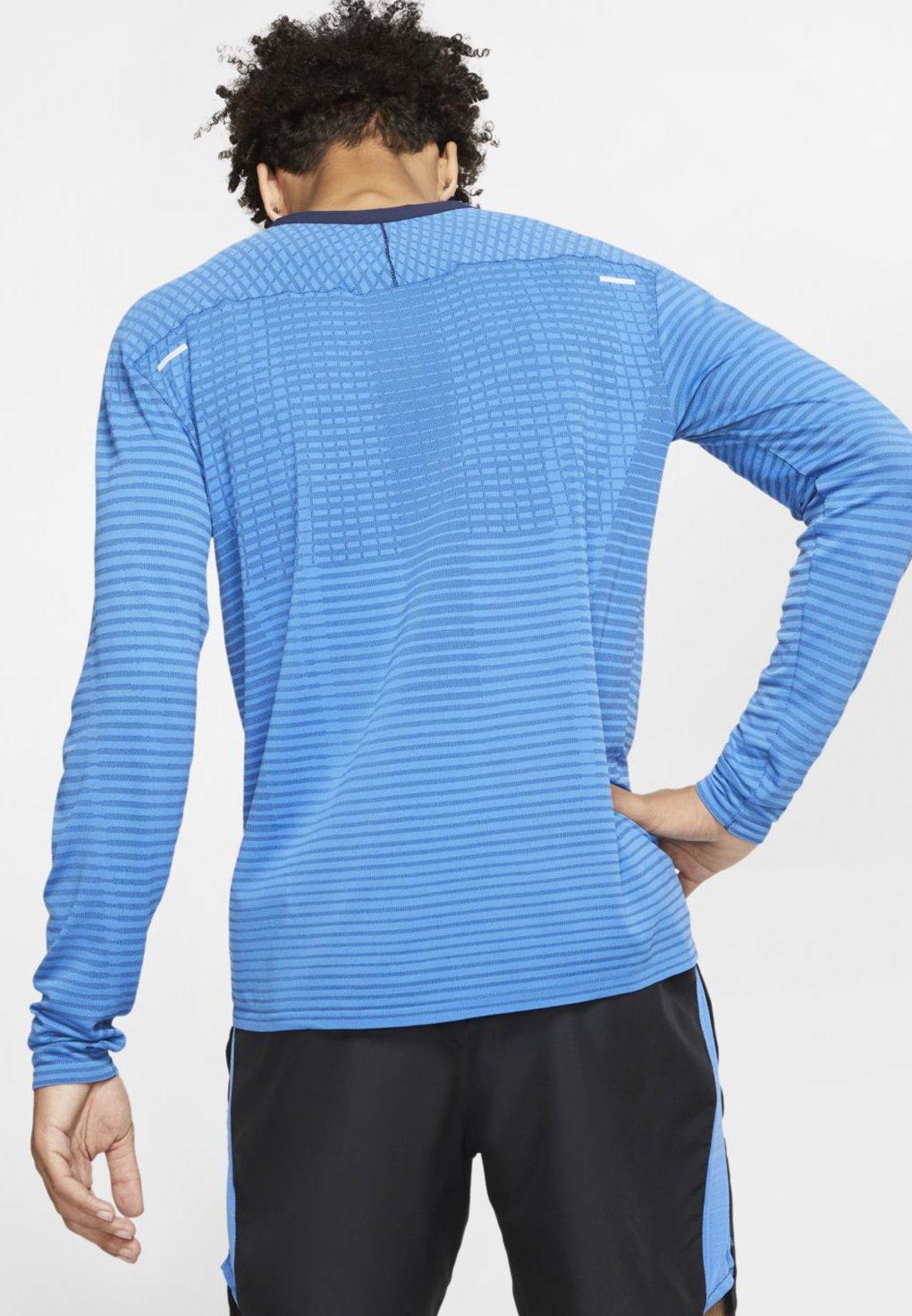 Nike Performance M NK TECHKNIT ULTRA LS - T-shirt à manches longues - pacific blue