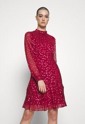 FALLING LEAVES MINI DRESS - Day dress - burgundy