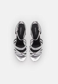 Even&Odd Wide Fit - Platform sandals - silver - 5