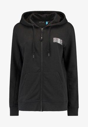 Zip-up sweatshirt - black out