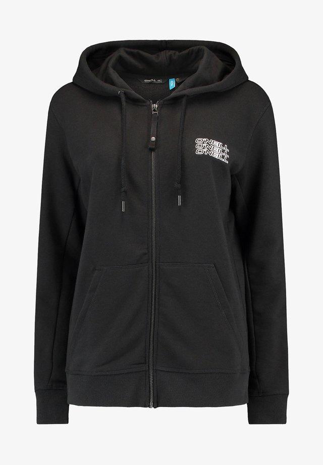 veste en sweat zippée - black out