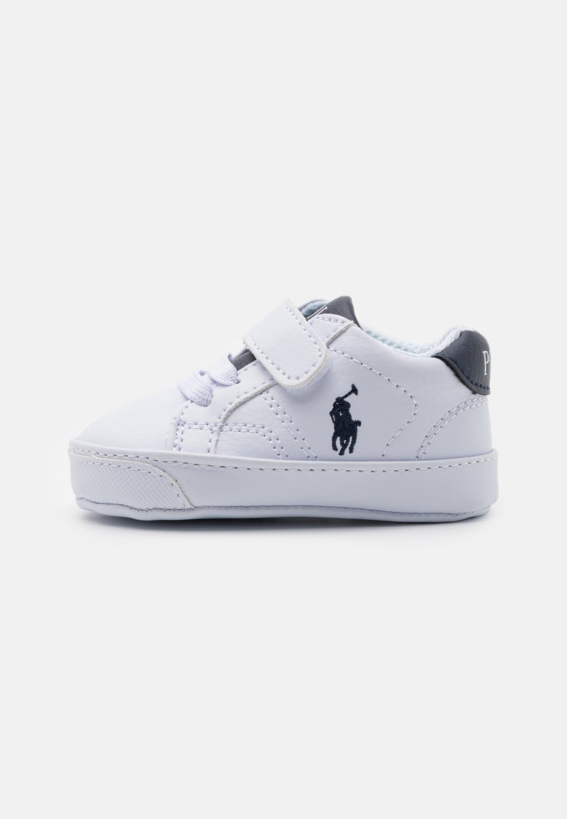 Polo Ralph Lauren - THERON LAYETTE UNISEX - First shoes - white tumbled/navy