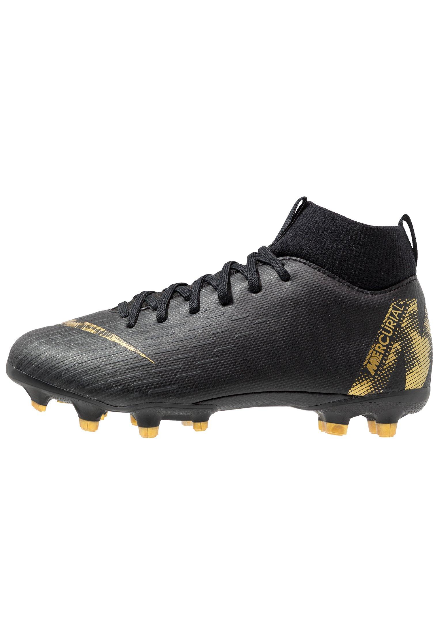 Nike Performance MERCURIAL 6 ACADEMY MG Fotballsko black