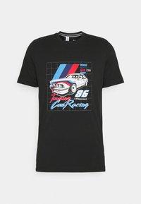 Puma - BMW VINTAGE TEE - Print T-shirt - black - 4