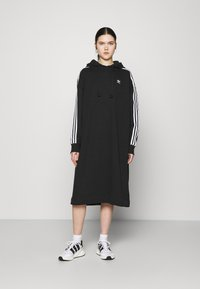 adidas Originals - HOODIE DRESS - Day dress - black - 0