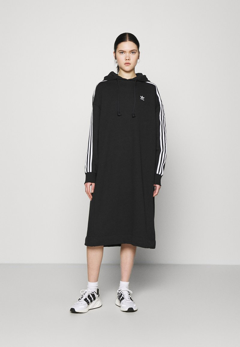 adidas Originals - HOODIE DRESS - Day dress - black