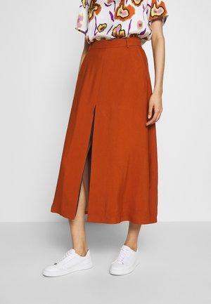 A-line skirt - rusty/navy