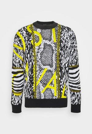 Svetr - black/white/vibrant