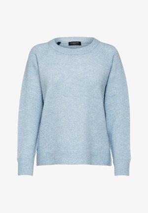 Strikkegenser - cashmere blue