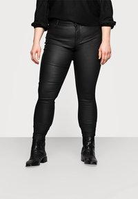 Pieces Curve - PCSHAPE UP PARO CURVE - Trousers - black - 0