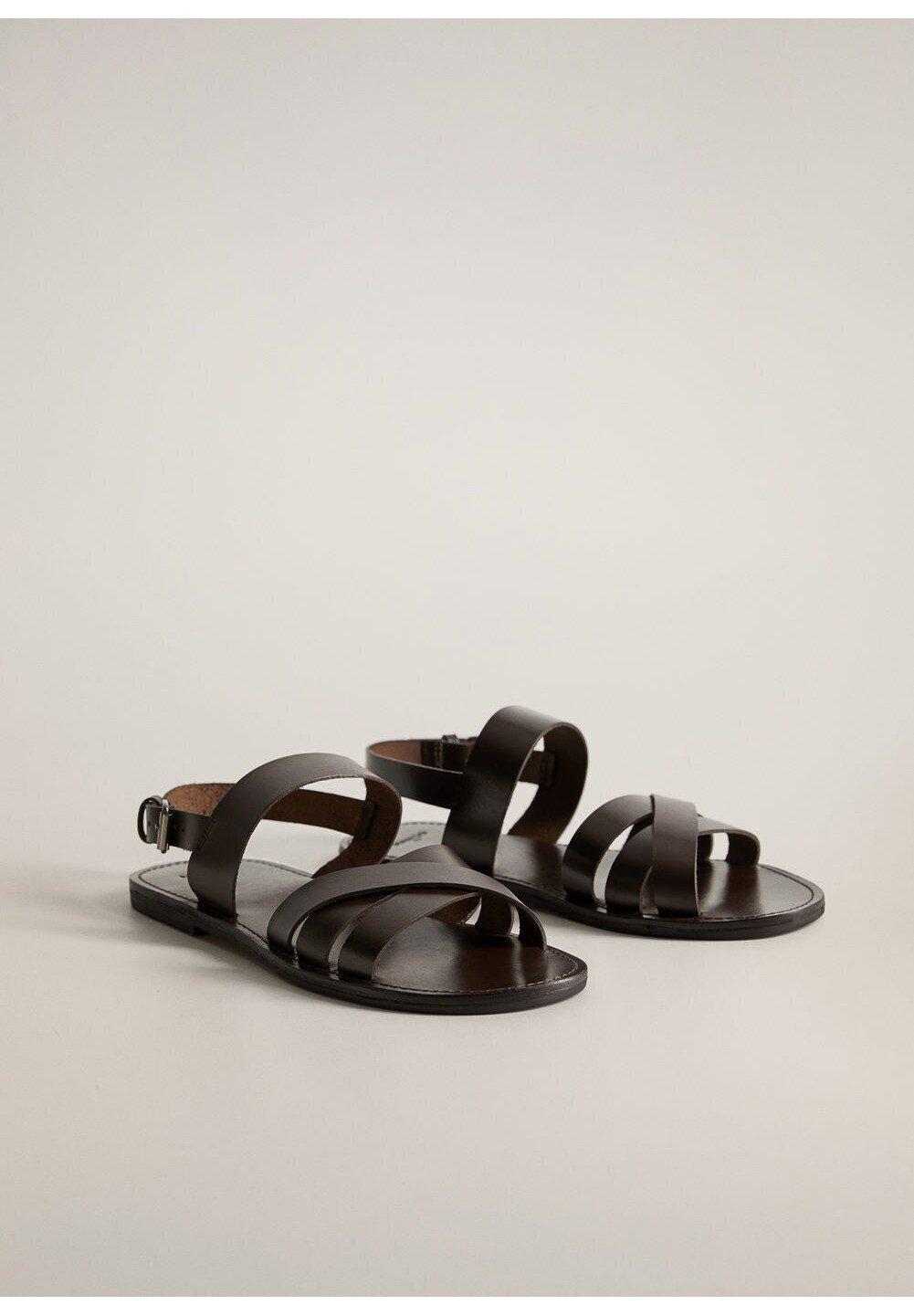 Handle Ind Fabrikspris Herresko Mango MALLORCA Sandaler chocolate o87yJ5 waYHDX