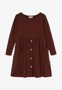 Mainio - BUTTON DRESS SLUB - Jersey dress - hot chocolate - 2