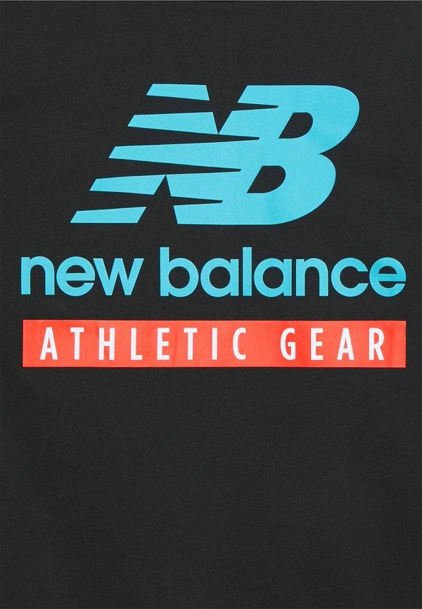 New Balance ESSENTIALS LOGO TEE - T-shirt z nadrukiem - black/czarny Odzież Męska KELZ
