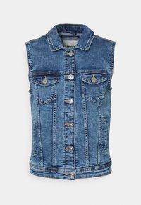 ONLTIA VEST LIFE - Waistcoat - medium blue denim