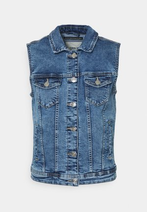 ONLTIA VEST LIFE - Chaleco - medium blue denim