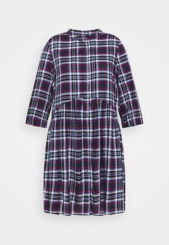 ELIZABETH BUTTON THROUGH SHIRT DRESS - Košilové šaty - dark blue