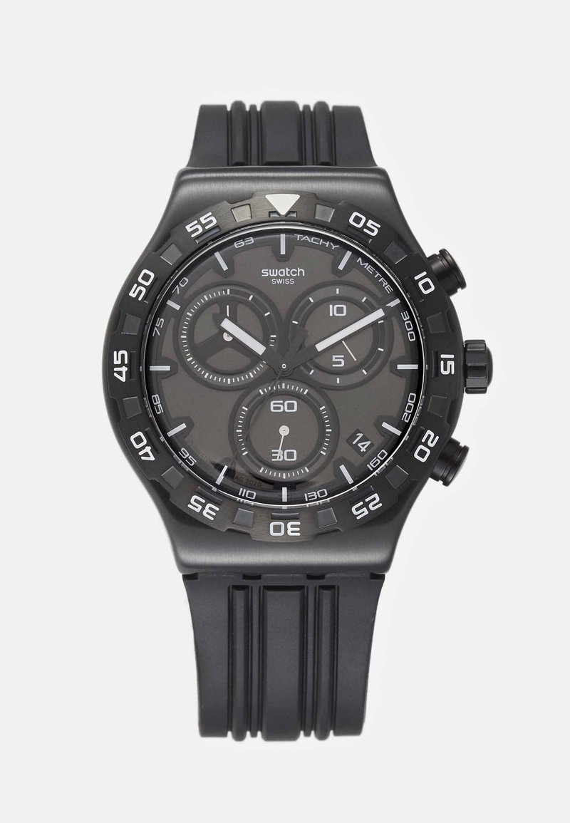 Swatch - TECKNO - Hodinky se stopkami - black