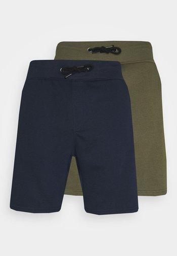2 PACK - Shorts - khaki/dark blue