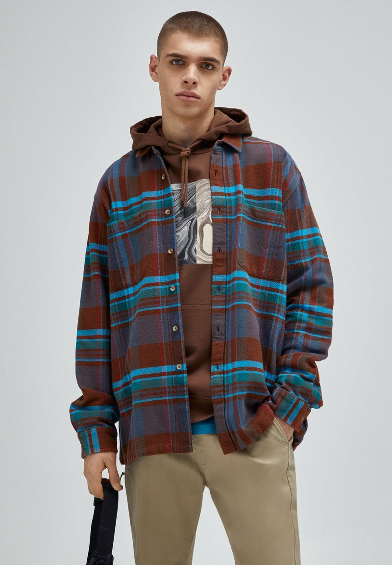 PULL&BEAR - Camicia - brown