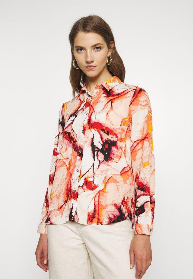 ONLALMA LIFE - Button-down blouse - cloud dancer/marble