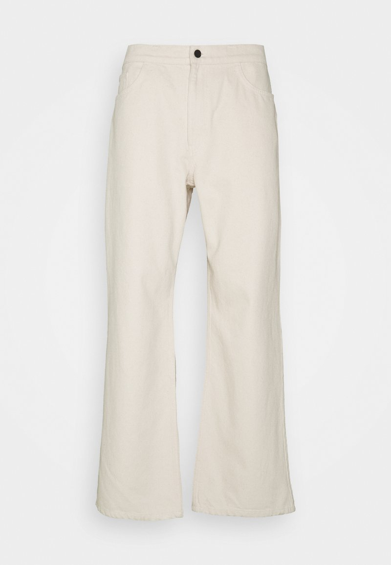NU-IN - GALLUCKS X NU IN COLLECTION WIDE LEG - Relaxed fit -farkut - off white