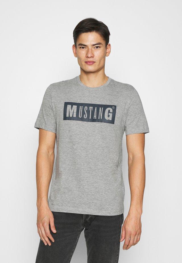 ALEX LOGO TEE - Camiseta estampada - mid grey