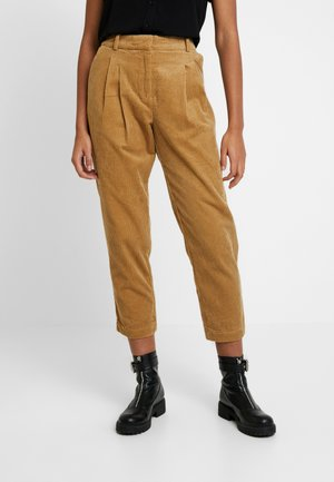 JULIANNA PANTS - Kangashousut - brown