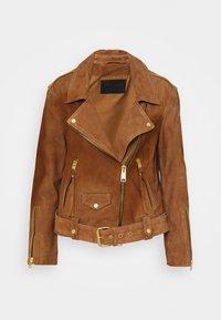 AllSaints - LUNA BIKER - Leather jacket - tan brown - 0