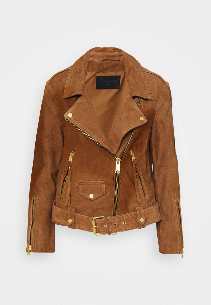 AllSaints - LUNA BIKER - Leather jacket - tan brown