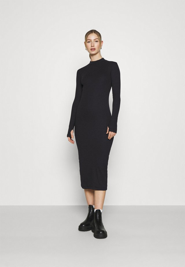 ELLA DRESS - Gebreide jurk - black