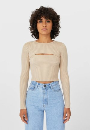MIT CUT-OUTS  - Jumper - brown