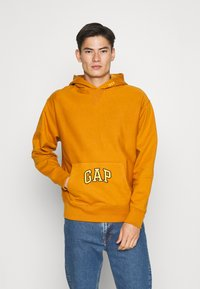 GAP - DRY - Bluza z kapturem - autumn orange - 0