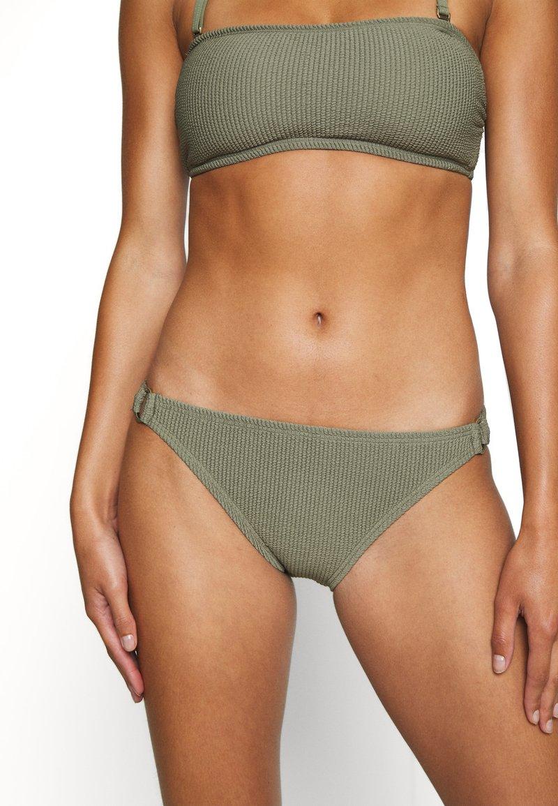 MICHAEL Michael Kors - DECADENT TEXTURE LOGO SIDE RING BOTTOM - Bikini bottoms - army green