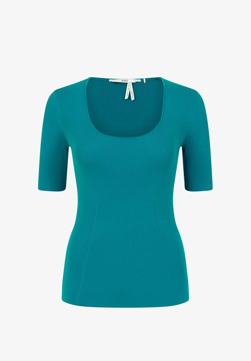 Steps - BONNETERIE - Basic T-shirt - crystalteal