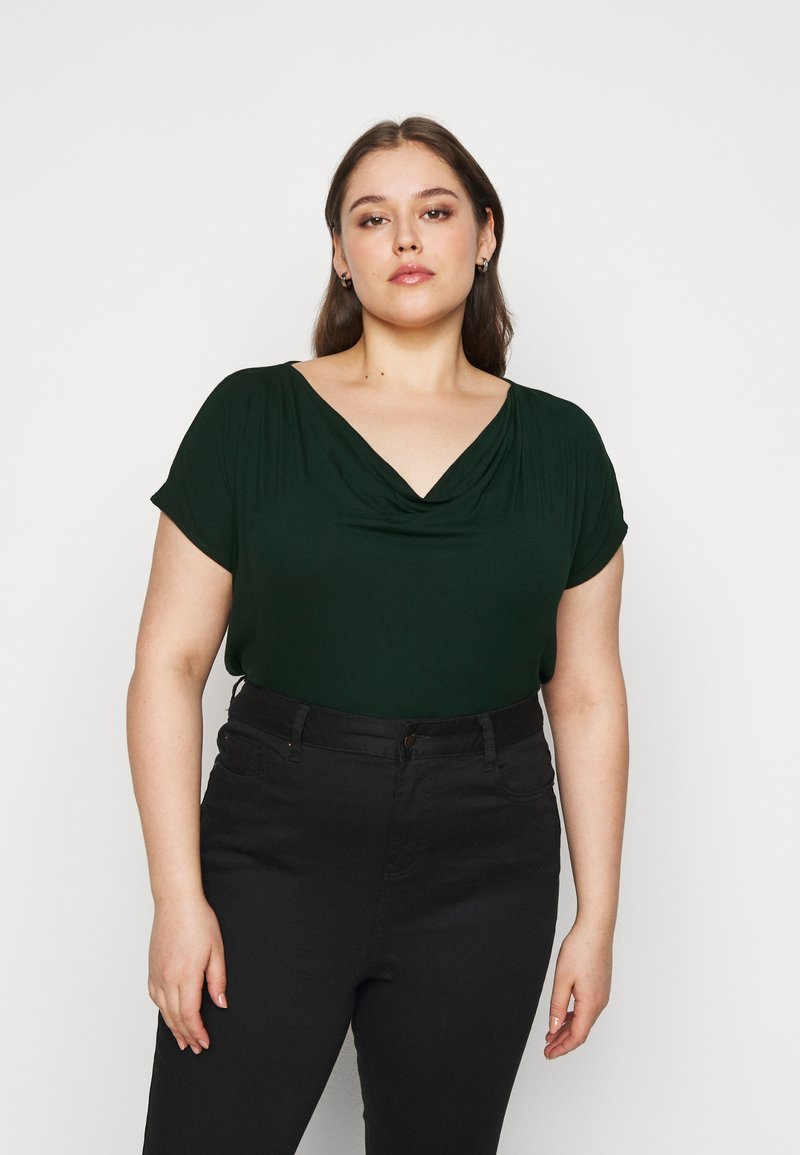 Anna Field Curvy - T-shirts med print - dark green