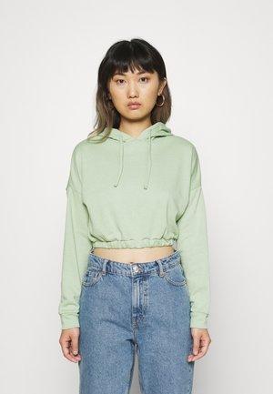 OVERSIZED HOODIE - Sweatshirt - smoke green