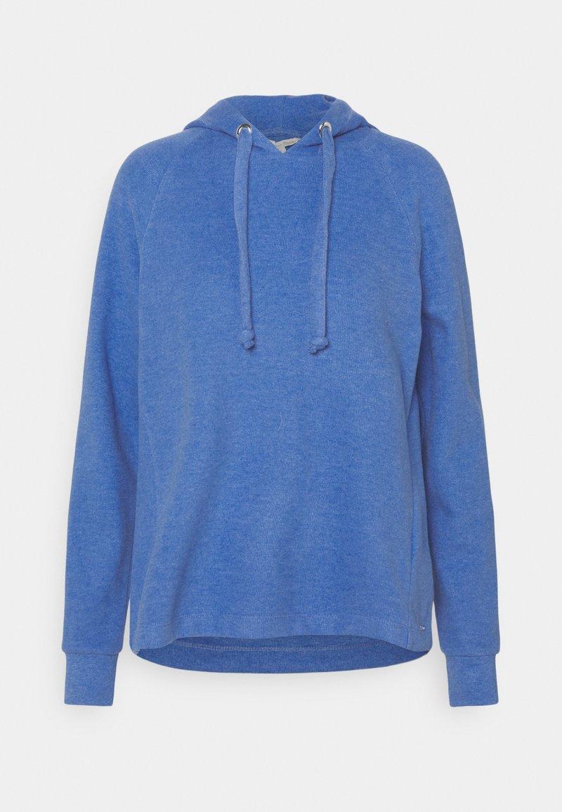 TOM TAILOR DENIM - BRUSHED HOODIE - Hoodie - mid blue