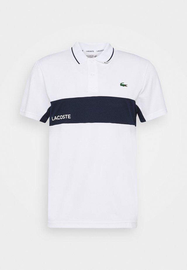TENNIS  - Sportshirt - white/navy blue