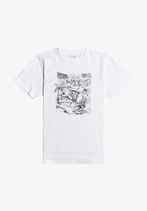 HELL RIDE - Camiseta estampada - white
