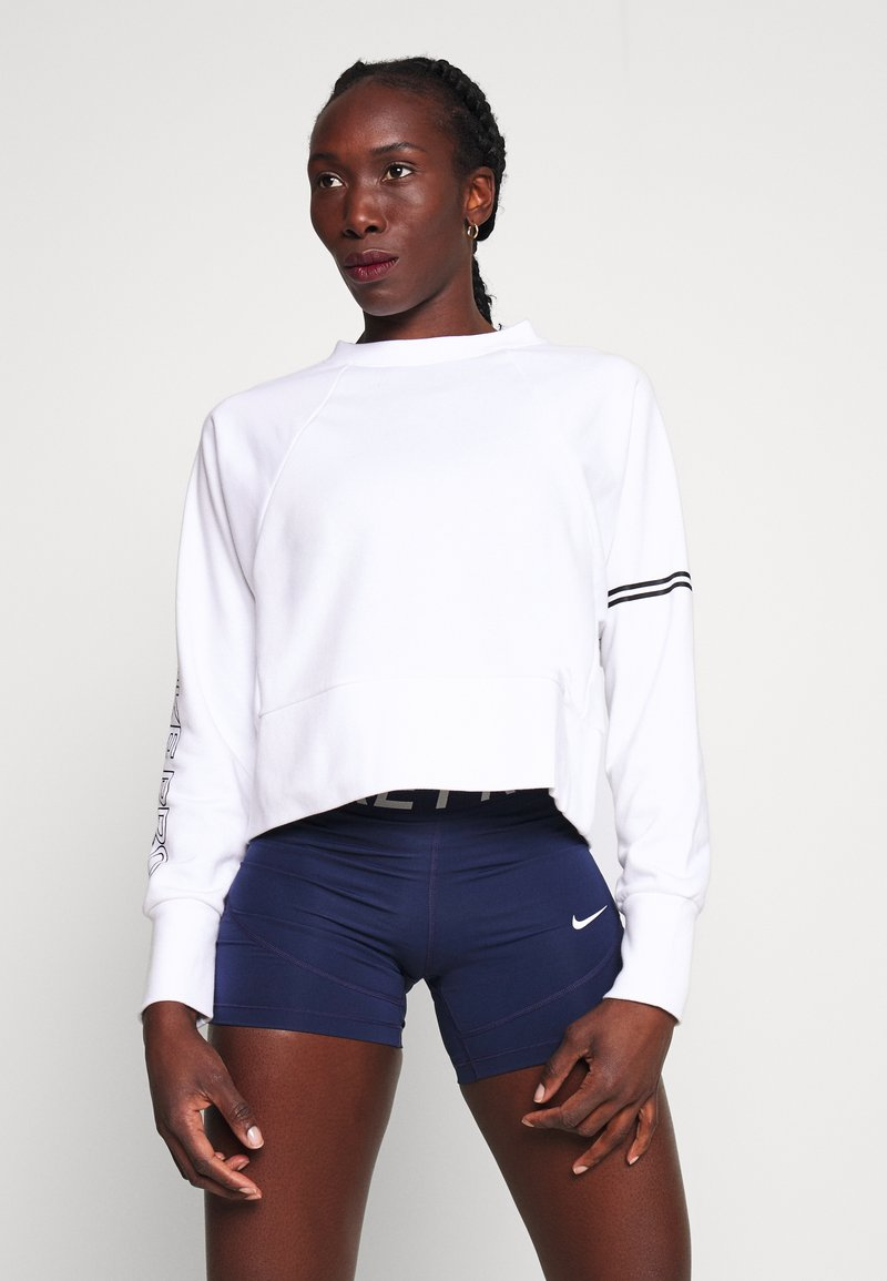 Nike Performance - DRY GET FIT - Sweatshirt - white/black