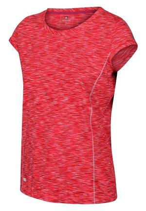 HYPERDIMENSION  - Basic T-shirt - neonpnk/whte