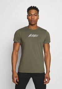 Jack & Jones - JOROMBRE TEE CREW NECK 5 PACK - T-shirt med print - white - 1