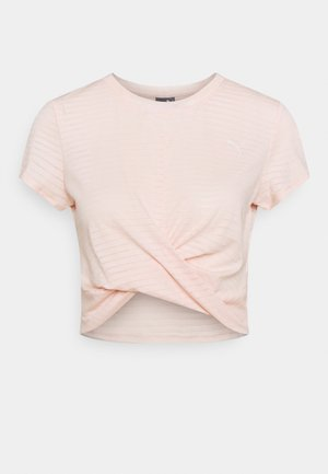 STUDIO TWIST BURNOUT TEE - Print T-shirt - cloud pinkprint