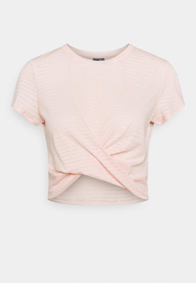 STUDIO TWIST BURNOUT TEE - Print T-shirt - cloud pinkprint