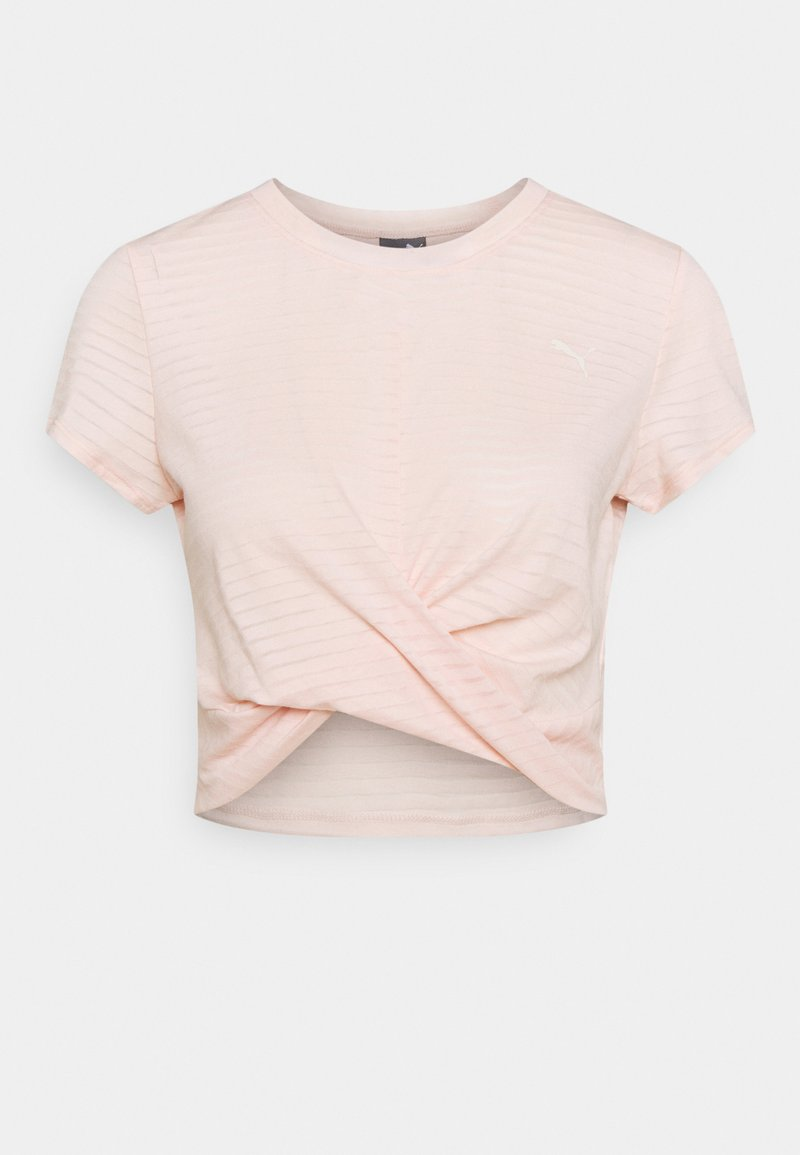 Puma - STUDIO TWIST BURNOUT TEE - Print T-shirt - cloud pinkprint