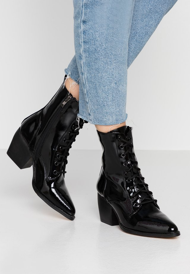 Lace-up ankle boots - black crush