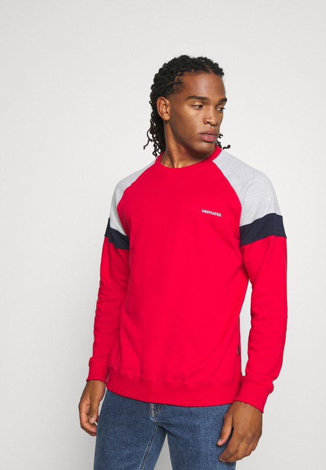 MALMOE SPLIT - Sweatshirts - red