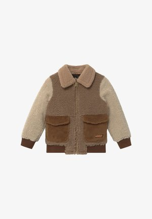 Bomber Jacket - light brown/off-white